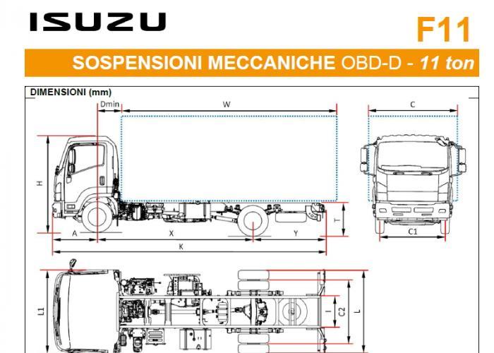 Listino Isuzu F11 Mecc. OBD-D