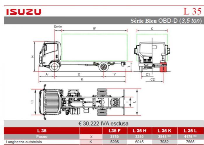 Isuzu L35 Listino