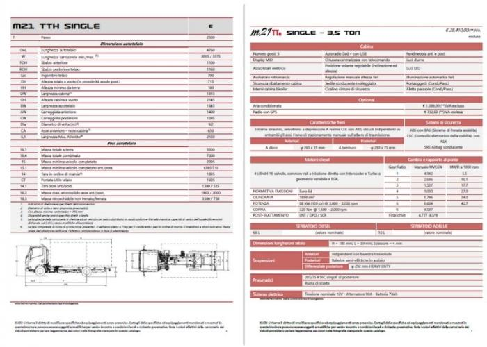 Listino Isuzu M21 TTH SINGLE